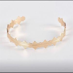 Jewelry - Gold cuff bracelet // bohemian jewelry
